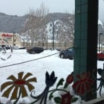 View from Columbine Bakery